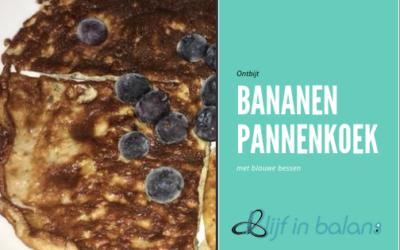 Bananen pannenkoeken met blauwe bessen